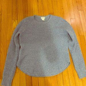 Club Monaco blue donegal cashmere sweater